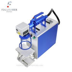 Het plastic Systeem van de Graveur van de Laser van de Vezel van de Luchtkoeling van de Contactdoos Draagbare