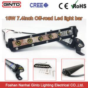 De Lichte Staaf van de hete Verkopende 3W Offroad LEIDENE van de Rij van CREE Mini Enige Auto van Lightbar 7.4inch 18W