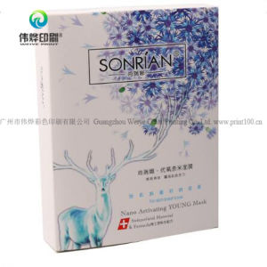 Masque facial de mode de personnaliser l'emballage du papier imprimé Case cosmétique