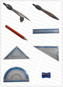 육군 원수 수학 고정되는 주석 상자 수학 고정되는 문구용품은 9개 피스 문구용품 수학 세트를 놓았다