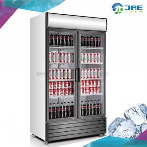 Bisagras de puerta de vidrio Doble Refrigerador de botellas para bebidas
