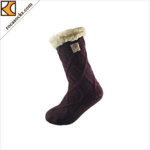 冬の暖かく曖昧なソックスの足首は強打する滑り止めの屋内ソックス(169003HS)を