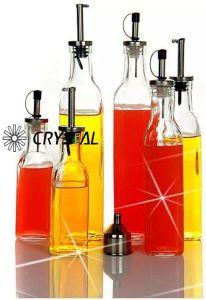 Freie quadratische kochendes Öl-leere Glasflasche mit Zufuhr