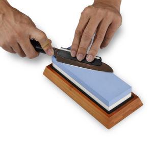 Lo mejor para la cocina, exterior, cuchillo de supervivencia de los 2 lados Piedra afiladora de piedra, Fix