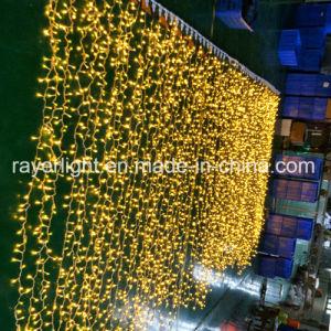 Im Freien LED-warmes Weiß LED reiht Vorhang-Licht-Weihnachten LED auf