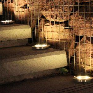 LEIDENE van het Gazon van de tuin Lichte Zonne Ondergrondse het Bedekken Lamp