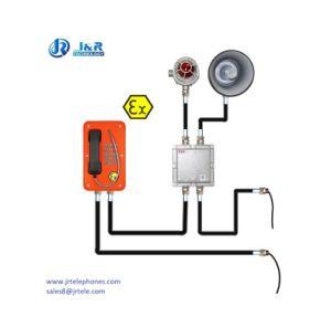 Безопасная Atex VoIP/SIP Взрывозащищенный телефон