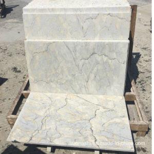 金の床および壁のタイルのための白い花こう岩の平板