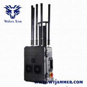 Maleta de alta potencia las frecuencias de portátiles RF GSM 3G Bomb Jammer