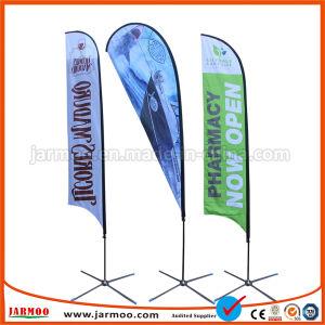 Impressão personalizada barata lágrima Poliéster Feather arvorando pavilhão de Praia Banner
