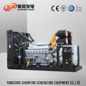 방음 닫집을%s 가진 콘테이너 1200kw 미츠비시 전기 힘 디젤 엔진 발전기