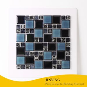 Un design moderne de couleur bleu/verre céramique/métal pour mur et sol en mosaïque