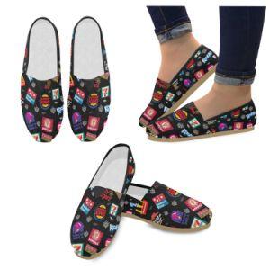Lienzo de la Moda Mujer zapatos zapatillas Drop Shipping Factory impresión bajo demanda de deslizamiento sobre la Mujer zapatos casual zapatos personalizados