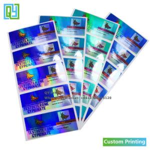 Nombre de logotipo personalizado de transferencia térmica auto adhesivo etiqueta adhesiva del servicio de impresión en rollo