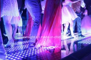 Comercio al por mayor super delgada para instalar una segunda etapa de DJ Boda iluminación LED magnético inalámbrico pista de baile