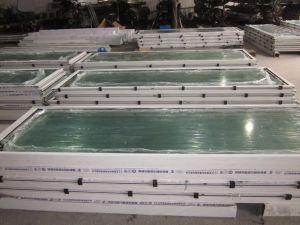 Portello di alluminio della stoffa per tendine lustrato profilo termico della rottura