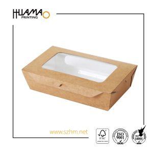 La impresión de logotipo personalizado almuerzo de comida rápida desechable caja de embalaje de papel