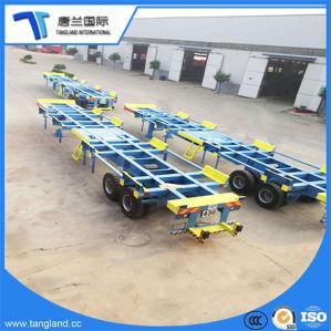 Semirimorchio di scheletro di Transportion del contenitore dei 3 assi per trasportare 20feet/40feet/45feet