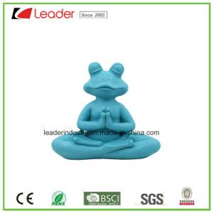 De hand Geschilderde Kikker van de Yoga van de Hars met Meditatie voor de Decoratie van het Huis
