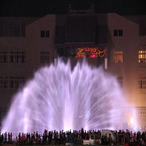 De openlucht Fontein van het Water van het Scherm van de Film van de Projector van de Fontein van de Muziek
