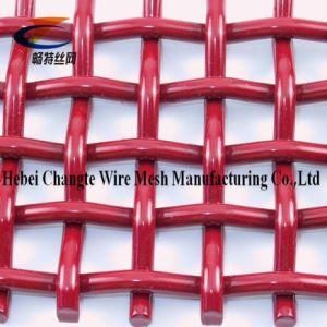 Rode Kleur 6*20mm 65mn het Geplooide Geweven Netwerk van de Draad voor Onderzoek en het Zeven