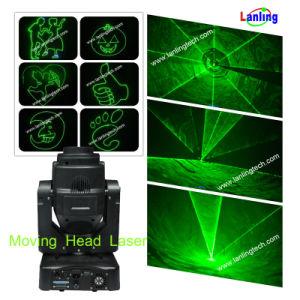 Перемещение головки зеленый лазерный свет / анимации лазерное шоу (ЛЕВЫЙ400G)
