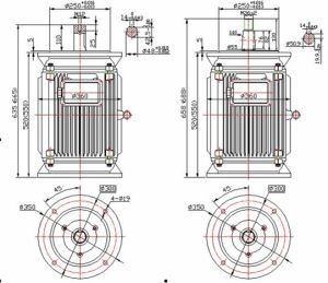 8kw 300rpmの低速度Vertical Permanent Magnet Generator