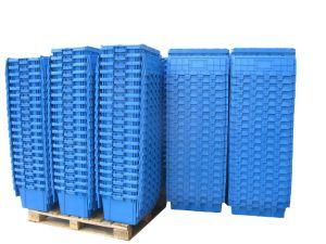 中国の移動Nestableプラスチックによって接続されるふたの戦闘状況表示板ボックス