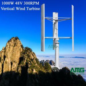 Tipo H 1kw a 48V 300rpm bajas rpm generador de turbina vertical del viento para el hogar on/off Grid usa