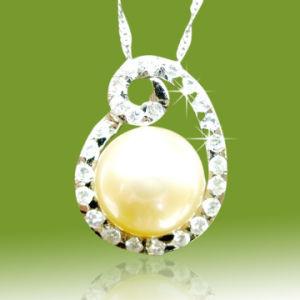 2014流行の銀製の真珠のペンダントのネックレス
