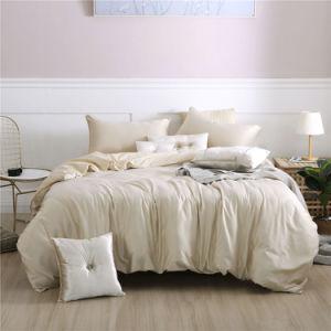 Accueil Hôtel Textile tissu de polyester couleur ordinaire solide ensemble de literie