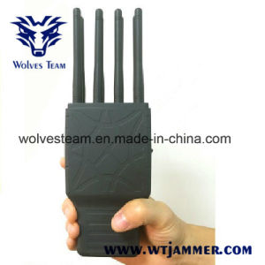手持ち型の8つのバンドWiFi GPSすべての携帯電話のシグナルの妨害機