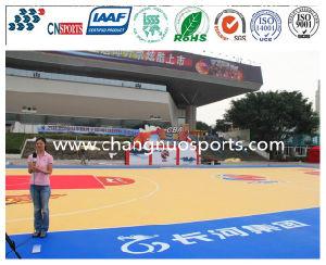 Pavimentazione di legno del campo da giuoco di sport di struttura per pavimento dell'interno/esterno di pallacanestro