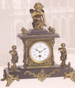 La decoración de bronce de la base de mármol del reloj (SP105)