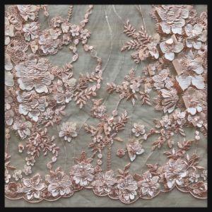 Bordados em 3D malha Lace Suite Fabric rendas para vestido de casamento