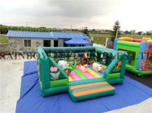 Nuevo diseño verde inflables bouncer para la venta (RB1072)