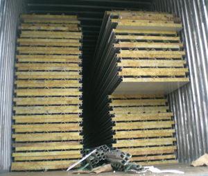 Mur Blanc panneau sandwich de laine de roche pour préfabriqué chambre