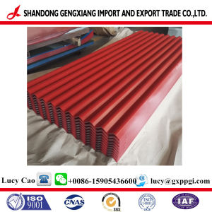 Hoja corrugado de acero galvanizado/utilizado en la estructura de acero chapado en