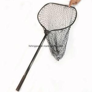 Aluninum poignée télescopique d'épuisettes de pêche pour les articles de pêche
