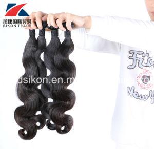 安く自然なカラーボディ波の人間の毛髪のWeftバージンのブラジルのRemyの毛