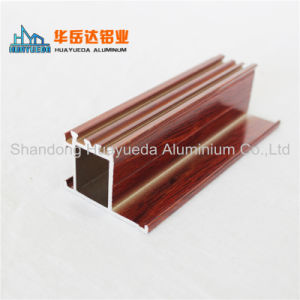 Profili di alluminio della pittura di legno del grano per Windows ed i portelli