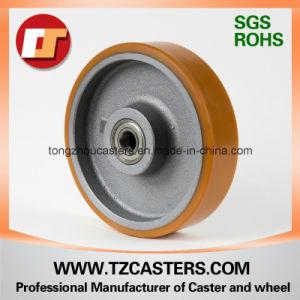Ruedas de poliuretano reforzado con hierro fundido de centro, 200*50mm