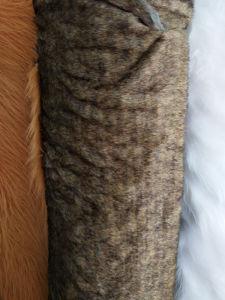 Stock Raccoon Dog Faux Fur Barato preço Raccoon Fake Peles com pêlo
