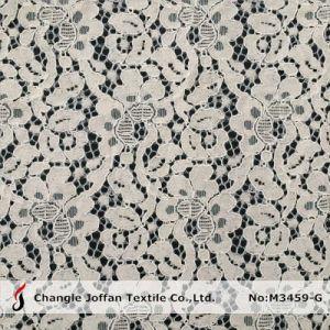 花嫁の服(M3459-G)のための刺繍のレースのRaschelのレースファブリック