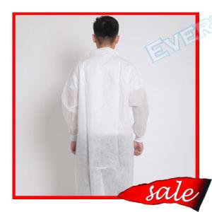 Cappotto del laboratorio medico, cappotto a gettare del laboratorio, cappotto del laboratorio dei pp, cappotto del laboratorio di SMS, il dottore Lab Coat, cappotto del laboratorio del polipropilene, cappotto non tessuto del laboratorio, cappotto dell'ospite, cappotto del laboratorio