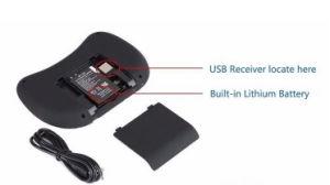 I8 Toetsenbord van de Muis van de Lucht het Draadloze Mini voor T95m de Tablet van de Doos van TV