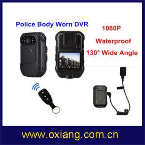 Resistente al agua de alta definición 1080p Cuerpo de Policía de la cámara con control remoto y externos mini cámara 1080p