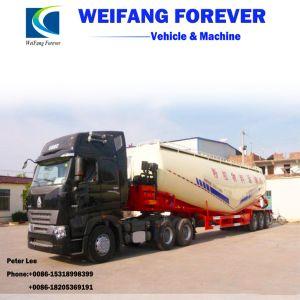 半三車軸30-70m3バルクセメントのトラックの粉タンクトレーラー