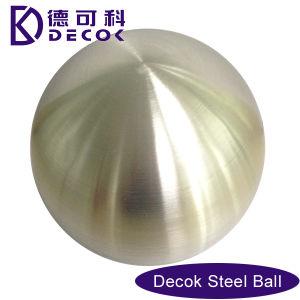 la grande sfera decorativa 304 di 250mm ha spazzolato la sfera dell'acciaio inossidabile