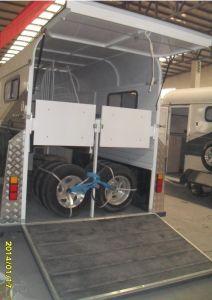 2 Cavalos Trailers de flutuação do padrão de carga Reta